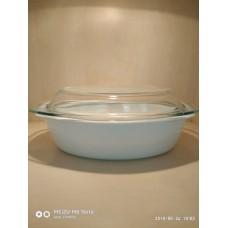 Гусятниця з кришкою овальна без декору 2,5л, Pomax 8132701