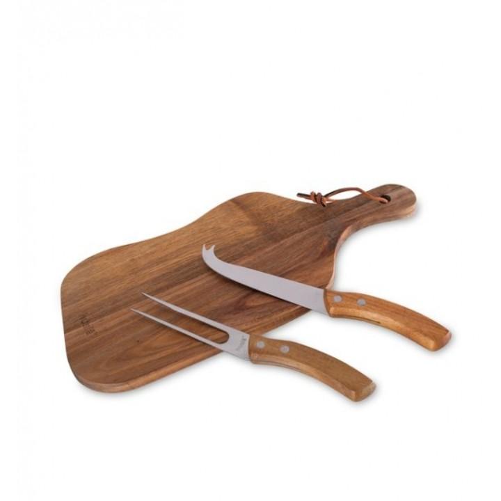 Дошка для нарізки та подачі з ножем, вилкою 73922